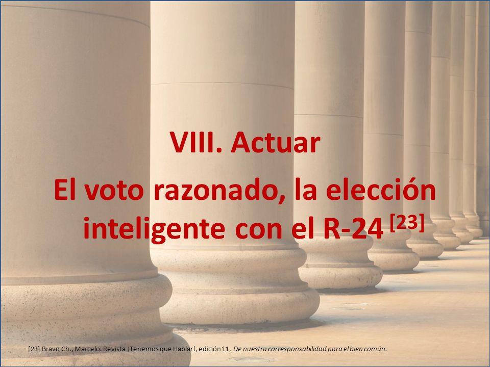 VIII. Actuar El voto razonado, la elección inteligente con el R-24 [23]